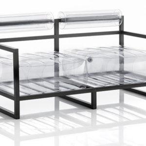 Canapé Gabrielle transparent - Mok Mobilier
